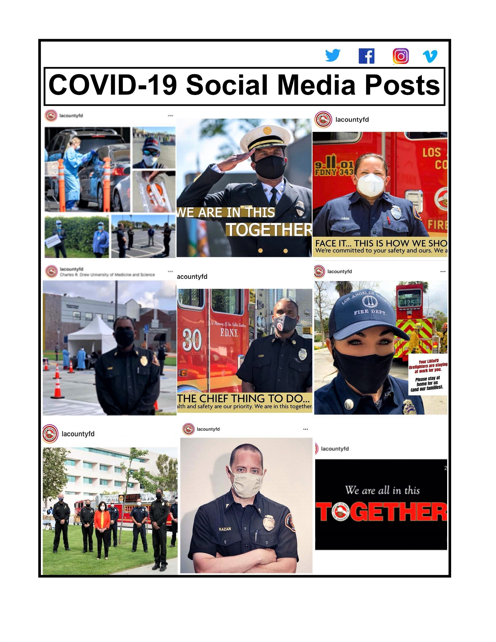 LACoFD COVID-19 Safety Awareness Campaign