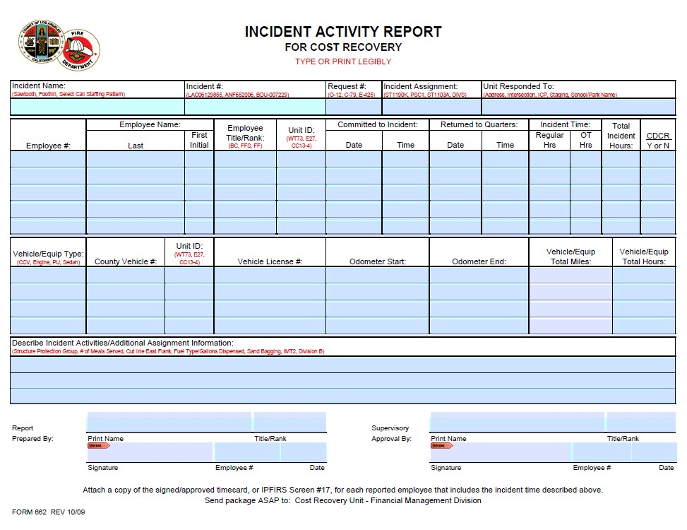 LACoFD COVID-19 Cost Recovery